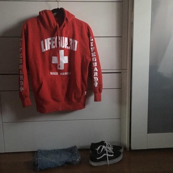 0537c17c76e Lifeguard hoodie Maui Hawaii. M 5b5fda85d8a2c7bb6b320184